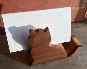 Cat Business Card Holder, Cat Lover Gift, Desk Accessory