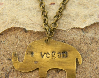 Handmade, customizable, vegan brass pendant necklace made in Italy.