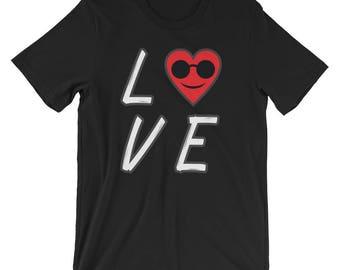 Heart Emojis Shirt Love Emoji T-Shirt UNISEX Valentines Day Gift
