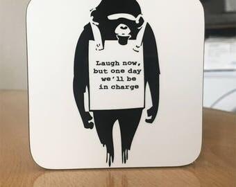 Banksy Coaster #31 - Banksy Gift - Banksy Coaster - Custom Coaster -Gift for Her - Gift For Him - Fridge Magnets - Banksy Magnet - Souvenir