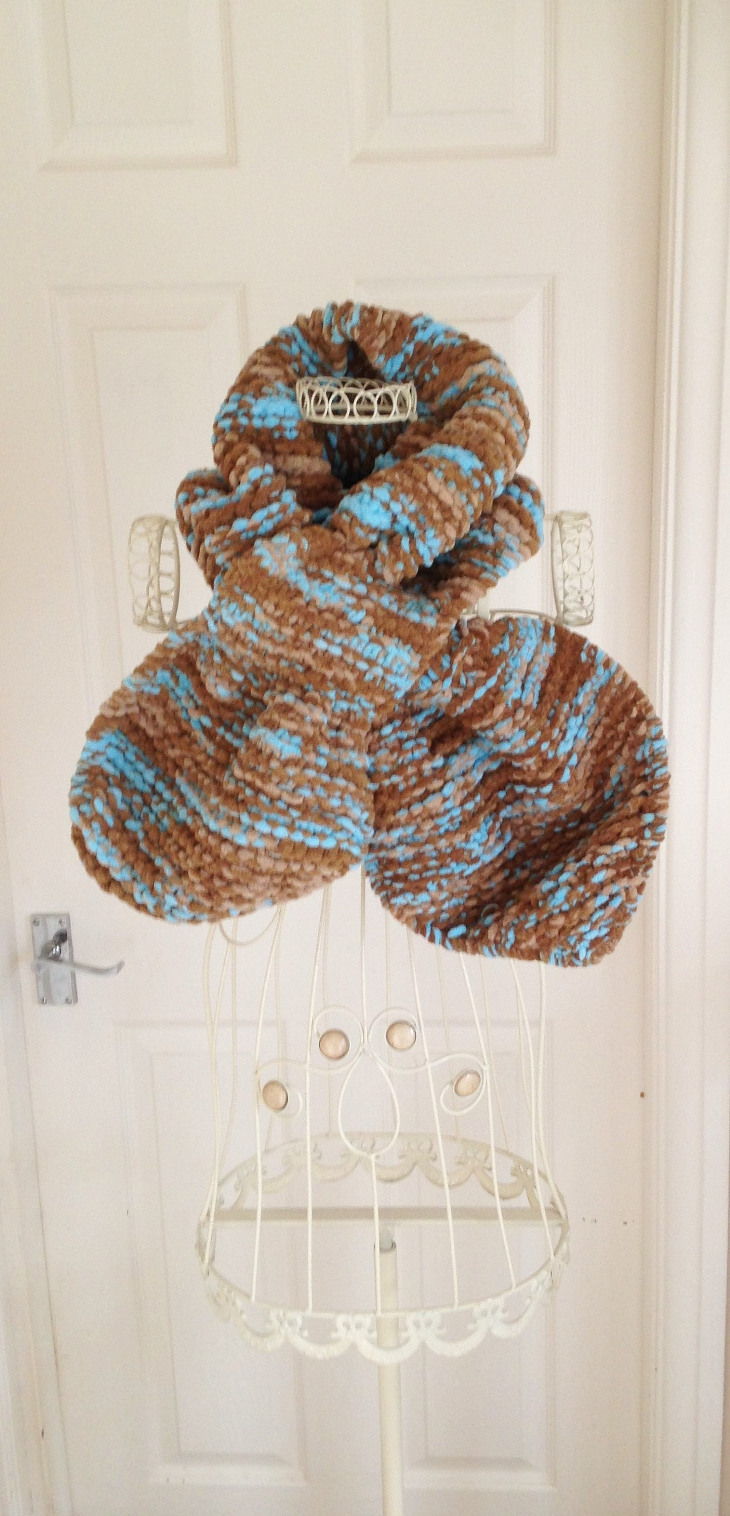 Super Chunky Scarf, Knitted Chunky Scarf, Chunky Ascot Scarf, Chunky ...