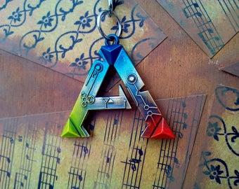 Ark Survival Evolved Necklace or Keychain Gamer Gift Keyring Pendant