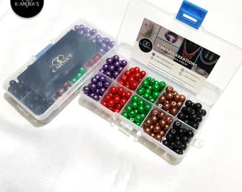 K-Mena's 8mm glass beads assorted box set