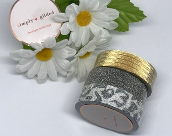 "Simply Gilded Washi, MORE GLITTER!!!!, Limited samples, 24"" samples"