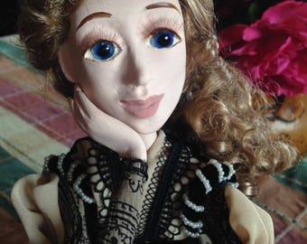 Sarah handmade art doll Laisves dolls