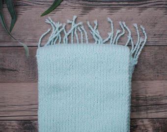 Soft Blue Tassel Scarf | Teen - Adult