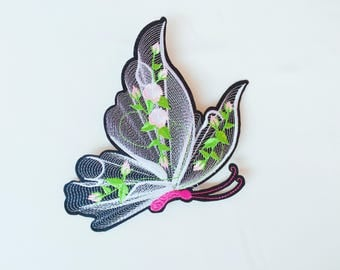 3D butterfly patch/large patch/iron on patch/sew on patch/patch for jacket.backpack ETC