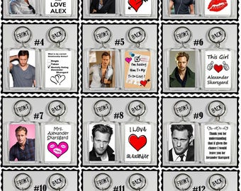 Alexander Skarsgard Acrylic Keychain - Choose Your Favorite 12 Different Designs
