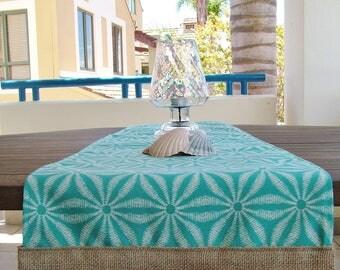 TABLE RUNNER - Outdoor - Teal Batik