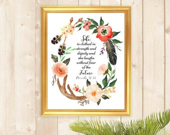 Printable art, Proverbs 21:35, Typography