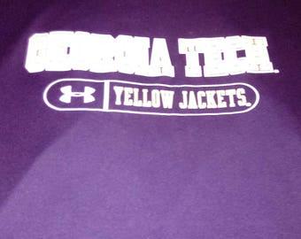 GEORGIA TECH Yellow Jackets XXL Under Armour T-Shirt