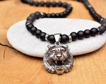 bear necklace men papa bear gifts new dad gift papa bear necklace daddy bear animal necklace for men bear pendant necklace father bear charm