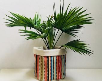 Fabric Plant Pot Toucan Indoor Planter Cactus Succulent Storage Bag Pouch Basket