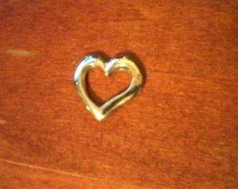 Sterling Silver Casted Heart For Valentines Day