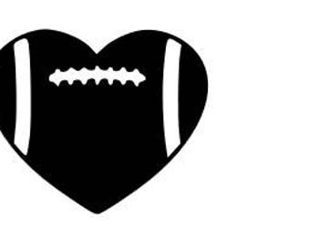 Football Heart SVG cutting file