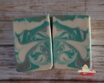 Eucalyptus Spearmint soap, Handmade soap, Artisan soap, Cold process soap,soap, soap bar, bath and body
