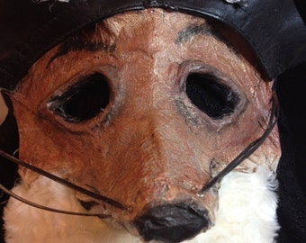 fantastic mr. fox mask roald dahl cosplay animal adult kid masquerade dress up festival cool creepy fur handmade fursona dark child play