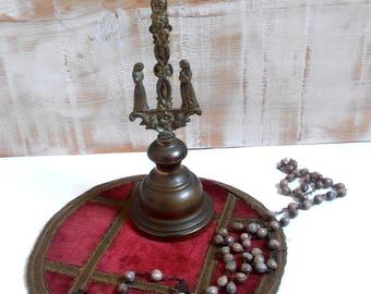 Church altar crucifix in bronze 19 th century