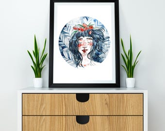 Printable watercolor poster 'Spring beauty'