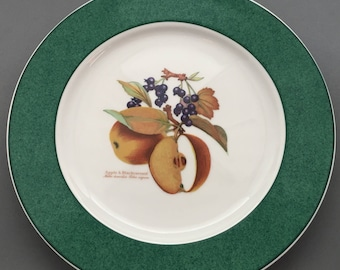 Royal Worcester Evesham Colours Green Border Dinner Plate