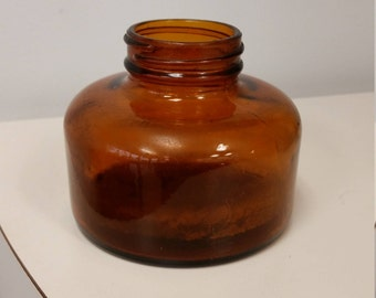 1930s Ink Well mfg by Anchor Hocking; Brown Glass, Excellent Vintage Condition