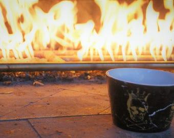 Royal Skulls And Bones porcelain trinket dish