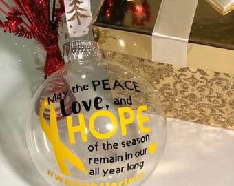 Cancer Awareness Holiday Ornament