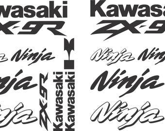 Kawasaki Ninja ZX-9R Decal Sticker Kit ZX 9R Stickers 20 pieces