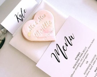 Custom Personalised Mr & Mrs Wedding Cookie Embosser Stamp | Favour | Bomboniere Gift