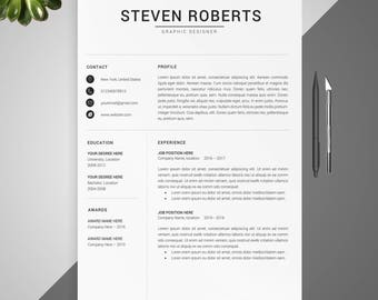 modern resume template resume template cover letter for word professional and creative resume