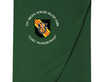 5th Special Forces Group Embroidered Blanket-3697