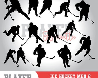 Ice Hockey Men SVG, Ice Hockey Sport svg, Ice Hockey digital clipart, athlete silhouette, Ice Hockey Men, cut file, design, A-037