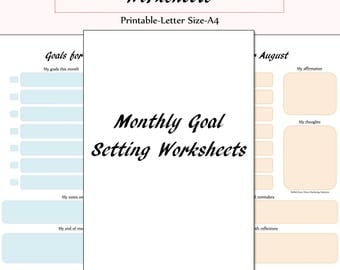 Printable Monthly Goal Setting Worksheets