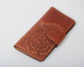 Brown wallet for women, soft leather wallet, long wallet for women, wallet with coin pocket, full grain wallet, clutch wallet, womens wallet