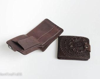 Dark brown wallet, genuine leather wallet, pocket wallet women, leather billfold, billfold wallet, small wallet women's, chocolate wallet