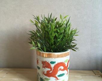 Chinese vintage ceramic planter