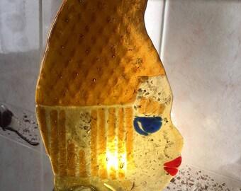 "Sculpture table lamp ""Donna Azteca"""