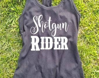 Shotgun Rider Country Tank Top Country Shirt Concert Drinking Southern