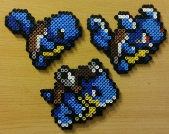 Blastoise Evolution Chain Perler Bead Magnets