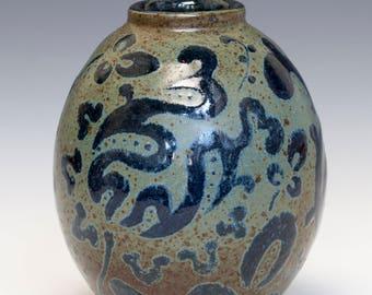 Hand Decorated Ceramic Vase