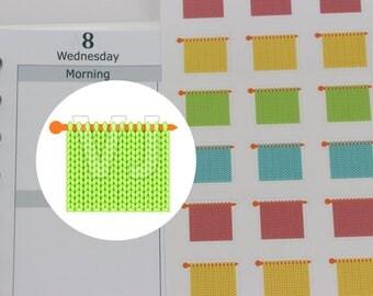 50 knitting planner stickers,knitting meet up sticker,knitting group,knitting club sticker,knitting class -----M138P(edited design)