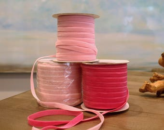 Special Order Wholesale Velveteen Ribbon Pink Collection / Pre-Order Rolls / Pink Collection / ER-POPC-