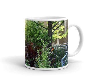 Garden Mug, for Gardeners, Flower Lovers, Nature Lovers, Tree mug, Landscape Mug