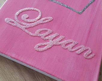 Personalized canvas  with crown