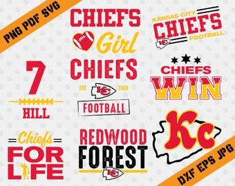 Kansas City Chiefs,For Life,7 hill,american football,team,cutting machines,T-shirt Design,Kansas City Silhouette,TT-052