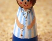 Blessed Chiara Badano - Saint Peg Doll, Patron Saint, Confirmation Baptism Gift, Customizable, Custom Order, Catholic Toys, Gifts under 15