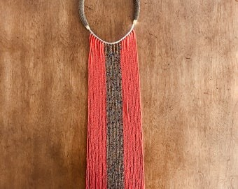 Handmade Masai beaded necklace