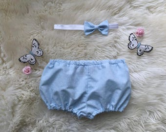 Polka Dot Bloomers (with matching bow headband)
