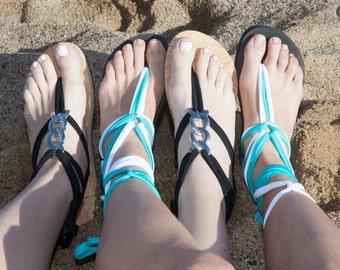 Mystic Gladiator Sandal - Resort Chic - Design Your Own - Black Flat Sole