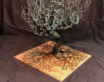 Copper Wire Tree 2ft Tall